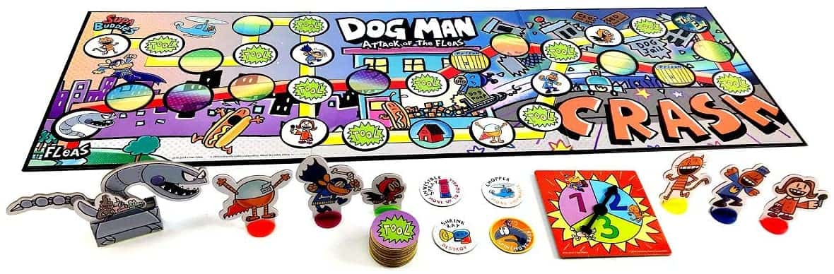 Dog Man Board Game Attack of The Fleas
