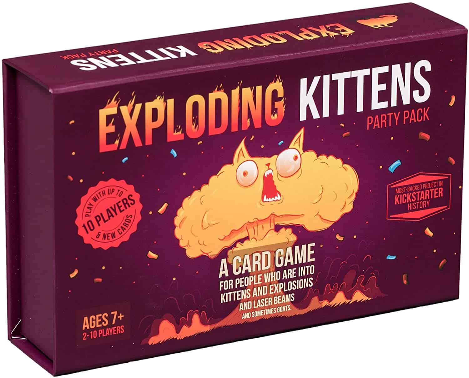 Exploding Kittens Card Game - Party Pack for Up to 10 Players - Family-Friendly