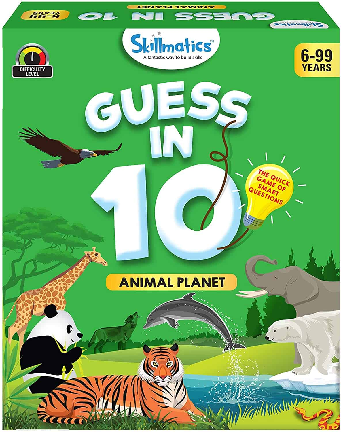 Animal Planet - Guess in 10 (Ages 6-99) | Card Game of Smart Questions