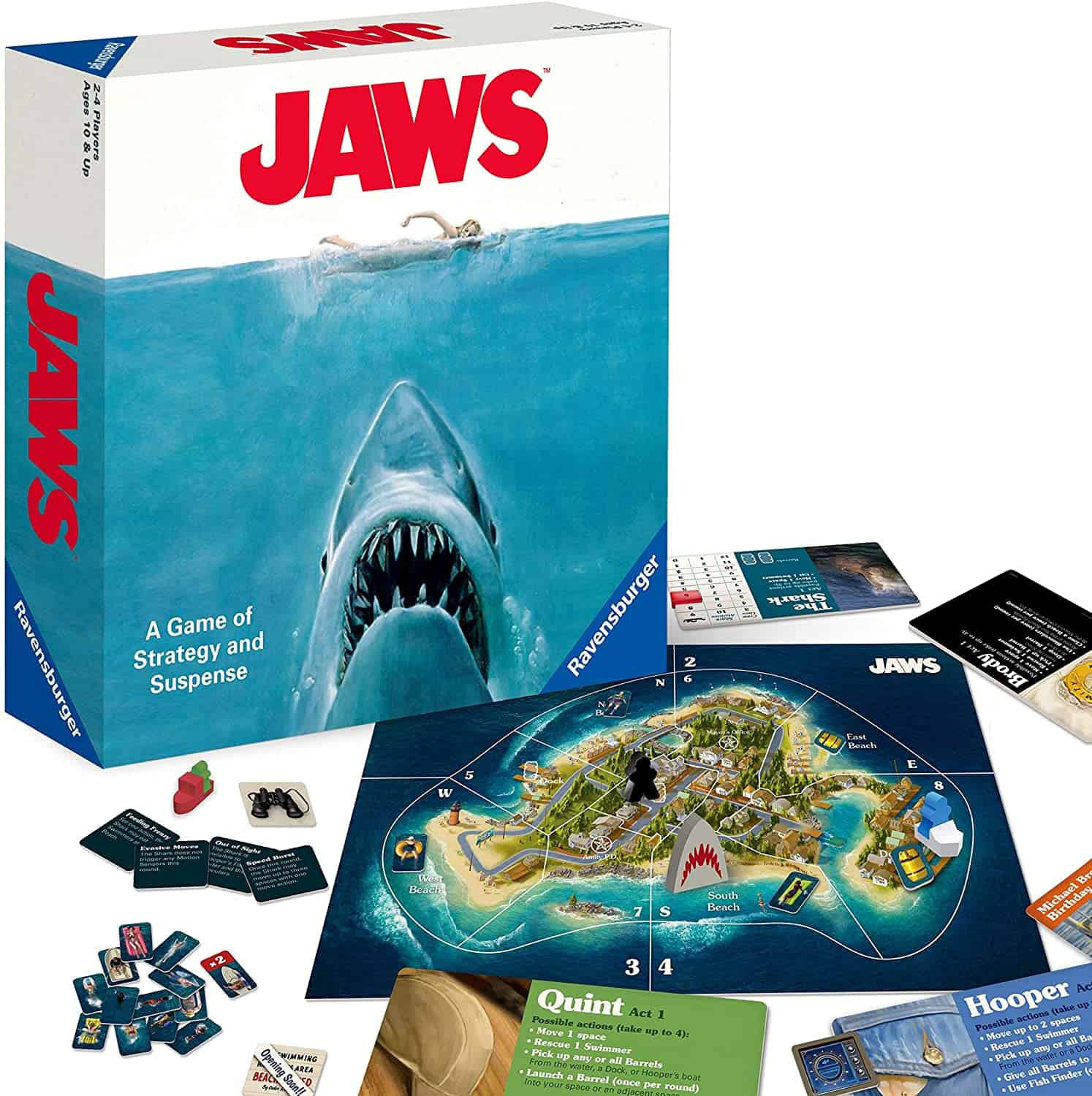 Jaws Board Game: A Game of Strategy and Suspense